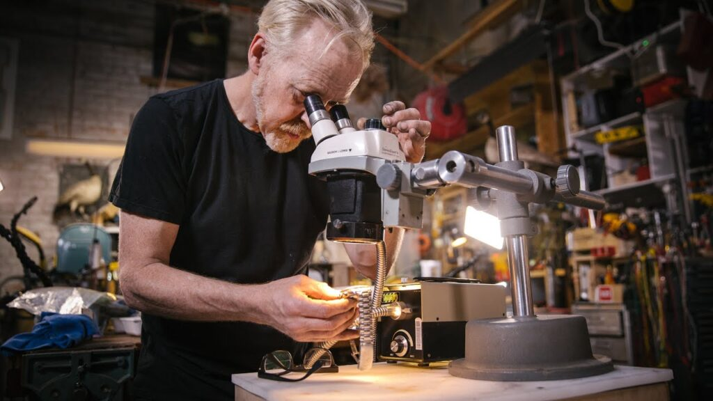 Adam Savage's One Day Builds: Fiber Optic Microscope Ring Light!