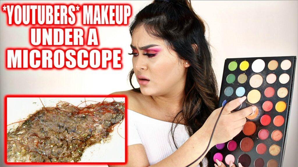 *BEAUTY GURUS* Makeup Under a MICROSCOPE! OMG